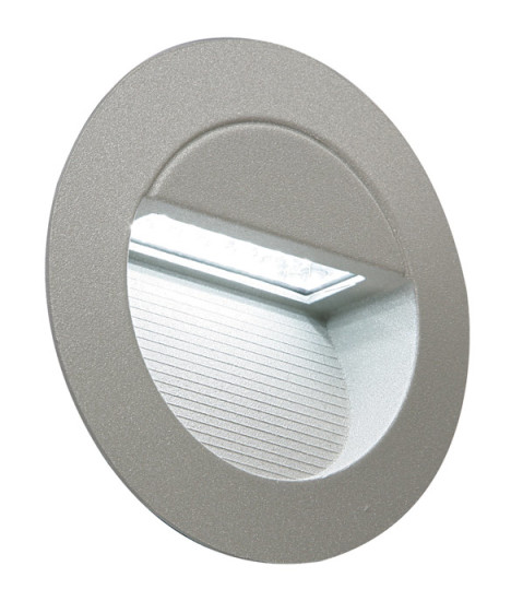 circular LED recessed wall light