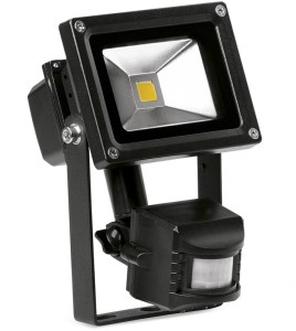 10 Watt Adjustable LED Floodlight with PIR Sensor