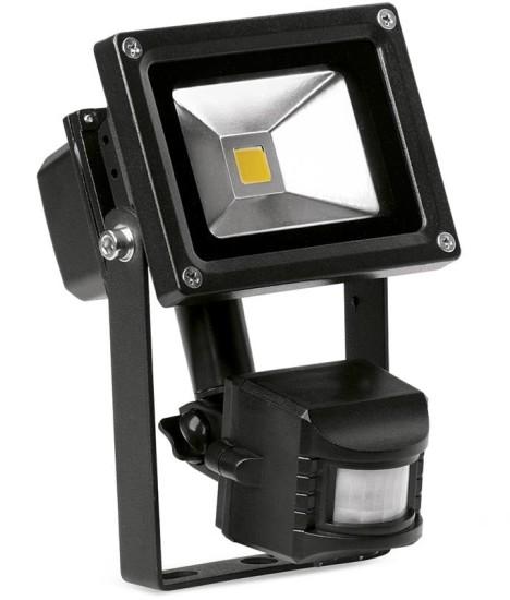 10 Watt Adjustable LED Floodlight with PIR Sensor