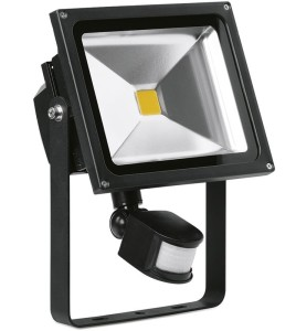 30 Watt Adjustable LED Floodlight with PIR Sensor