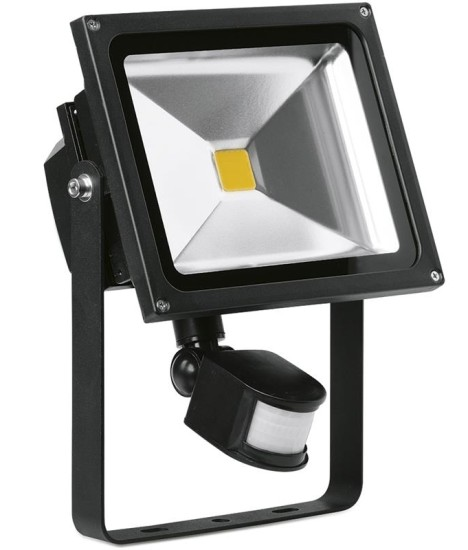 30 Watt Adjustable LED Floodlight with PIR Sensor